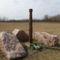 Ásványráró, Az 1954 évi árvíz emlékére emelt kopjafa, 2012. március 19.-én