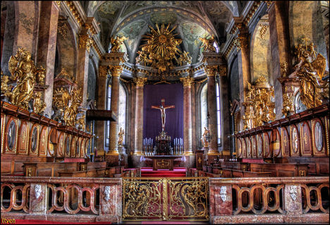 Győri Bazilika - Főoltár - The Main Altar Of The Basilica - Hungary - Győr