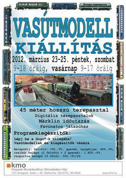 Vasút  JÓ2012 plakát A2 crv