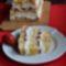 Sütés nélküli epres - krémes hasáb