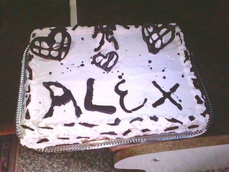 Pudingos névnapi torta