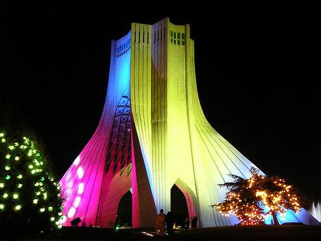 Azadi Monument at night 4