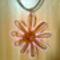 rézdrót medál virág kásagyönggyel díszítve