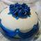 Kék rózsás torta