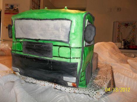 Teherautó torta