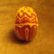 temari technikával készült tojás