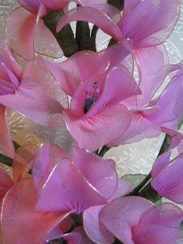 világító harisnya virág készítése lépésről-lépésre