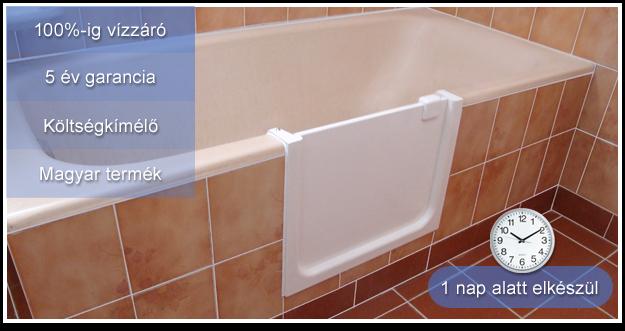 Fürdőkád ajtó beépítés házilag