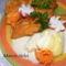 Rántott sajt rebarbara mártással