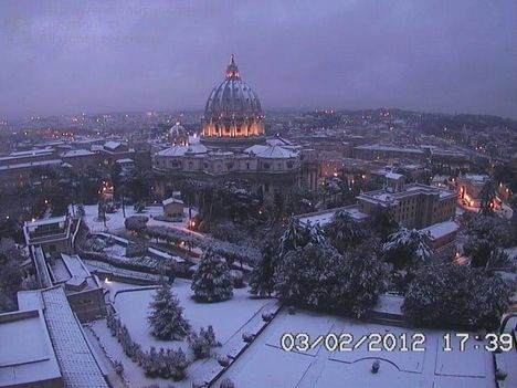 Hó, Rómában