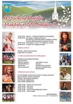 IV.Székely Majális Makfalván 2012 május 5.-én