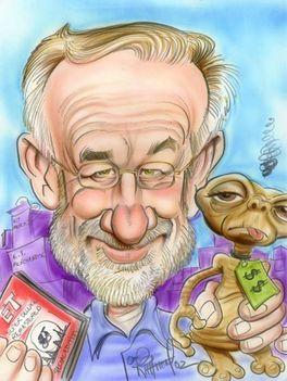 Steven Spielberg karikatúra