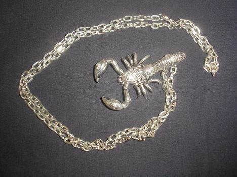 Ezüst skorpió medál 6,5cm