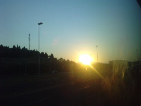 naplemente a buszból