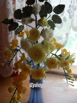 Fondant rózsacsokor