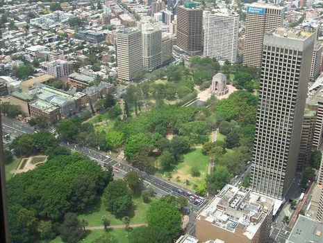 Kilátás a Sidney Towerből