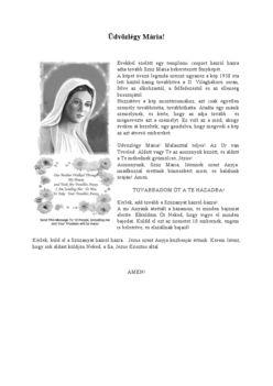 Üdvözlégy Mária