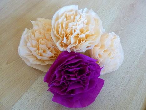 krepp papír virágok
