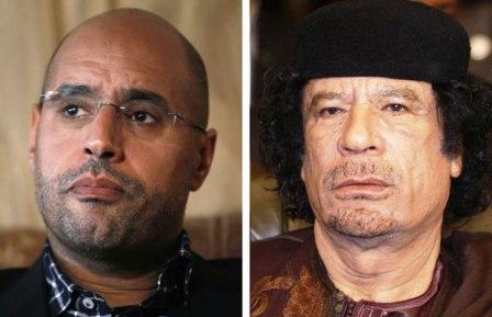 Islam al Kadhafi és apja meggyötörten