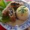 Gombaropogós salátaágyon