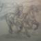 Kormos Brigitta , vágtató lovak grafika