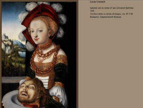 Lucas Cranach Salome Szépművészeti
