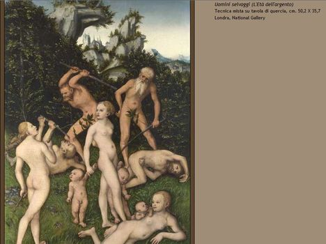 Lucas Cranach Uomini selvaggi