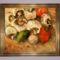 Netpolgár-képgaléria, 4 Gászpor Vince.Gombák paradicsommal és uborkával,olajfestmény farost lemezre