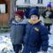 Téli játék  az óvoda udvarán