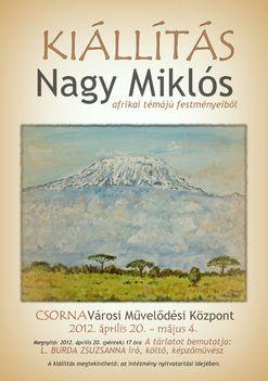 Plakát, meghívó a csornai kiállításhoz, Kilimandzsáró