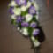 lila lizi és fehér rózsa