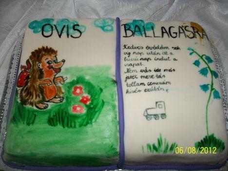 Óvis Ballagási torta