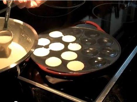 Poffertjes kerek sütő
