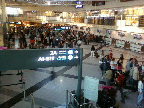 A 2-es A terminál az 1-es bezárását követő napokban 4