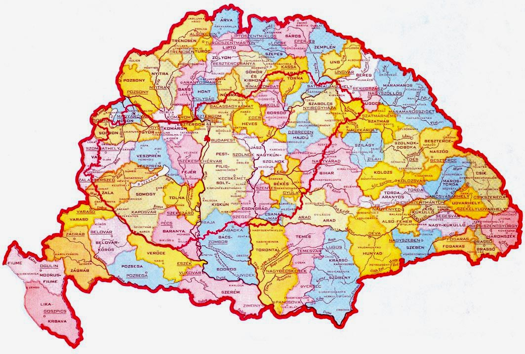 régi magyarország térkép trianon Nagy magyarország: Nagy magyarország közigazgatási térkép (kép) régi magyarország térkép trianon