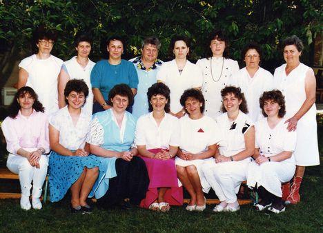 A nevelők csoportképe 1990-ben