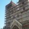 Jáki templom felállványozva