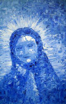 Mária 60x40 olaj, kasírozott vászon (festőkés)