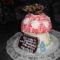Gomba torta lepkével Dancsi szülinapjára  2012