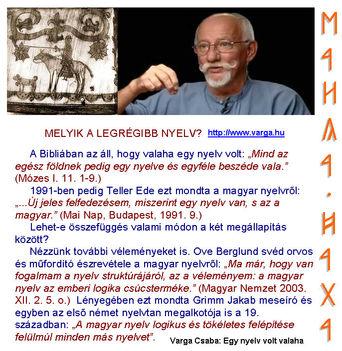 a magyar a legrégibb nyelv - Varga Csaba hagyatéka