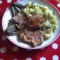 Sült hús petrezselymes krumplival
