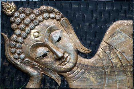 buddha fali dísz