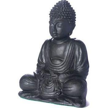 fekete buddha szobor