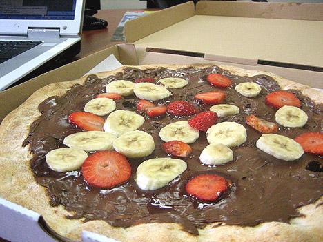 pizza- csokis