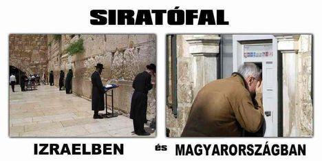 Siratófal Izraelben és Magyarországon