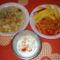 Tárkonyos zöldség leves, pacal pörkölt sós burgonyával,és kefíres uborka saláta.
