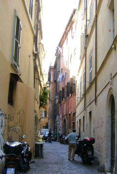 sikátor a via dei Gubbonari környékén