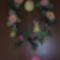Húsvéti ajtódísz horgolt virágokkal 003