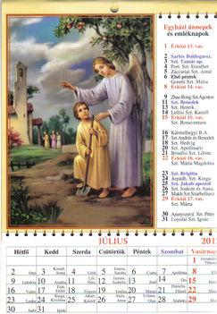 július naptár