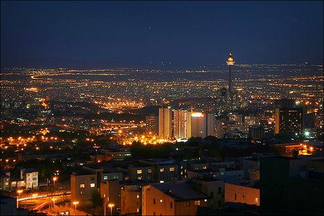 Milad tower at night (Milad torony éjjel)